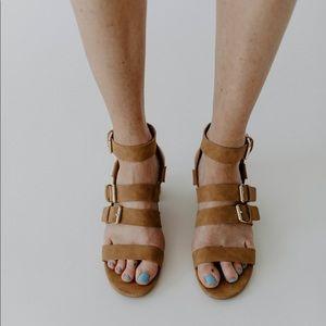 Lucille Strappy Sandal - Camel
